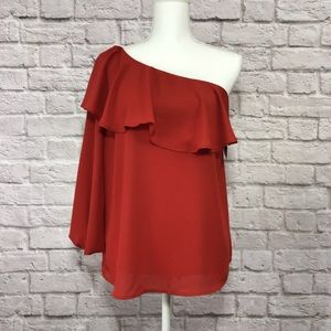 Halogen One Shoulder Blouse